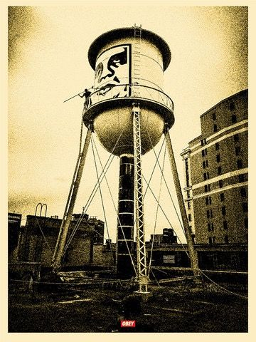 Shepard Fairey (OBEY) - Covert to Overt - Icon Water Tower (Gold)
