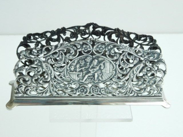 Silver openwork napkin holder (1) - .833 silver - Netherlands - First half 20th century