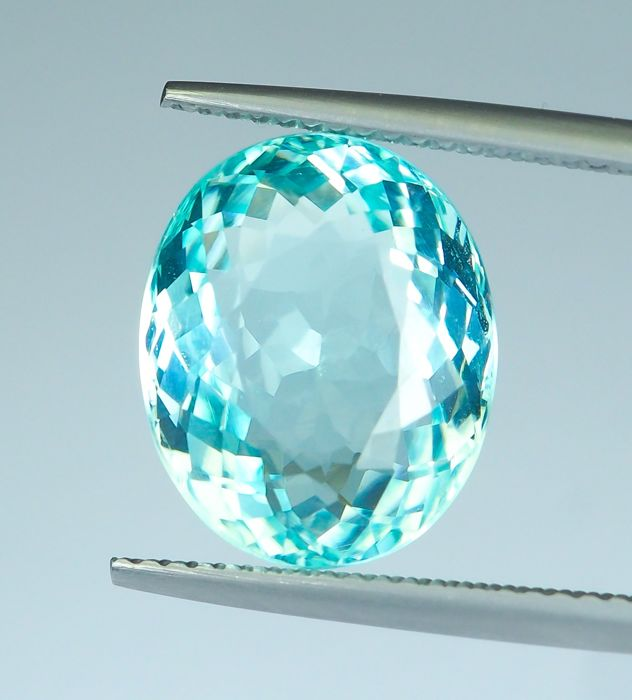 "Greenish Blue ""Paraiba"" Tourmaline - 7.97 ct"