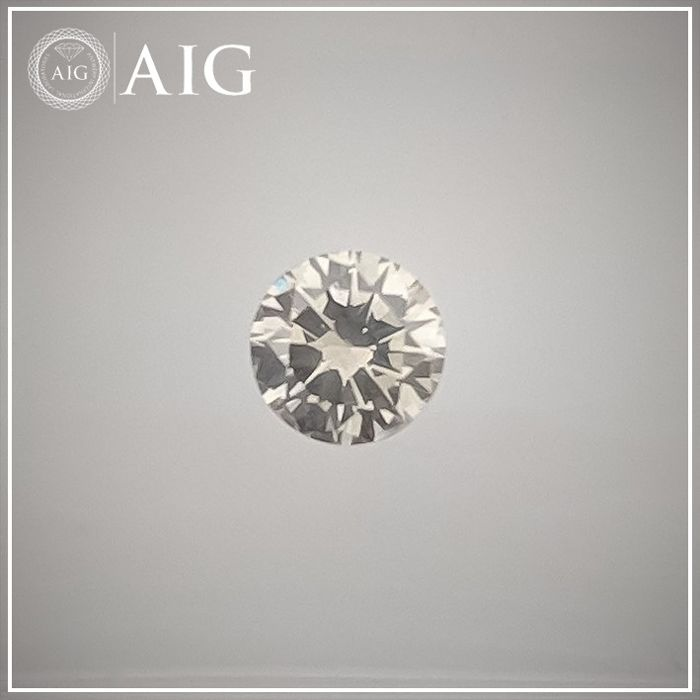 Diamond - 0.24 ct - Round - fancy light grey - SI1