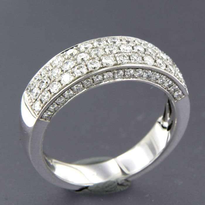 14 karaat Witgoud - Ring - 1.35 ct Diamant