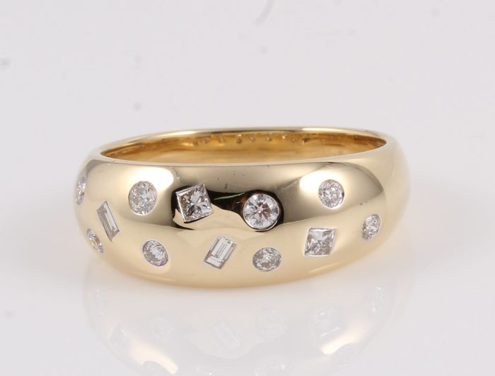 14 quilates Oro amarillo - Anillo - 0.33 ct Diamante