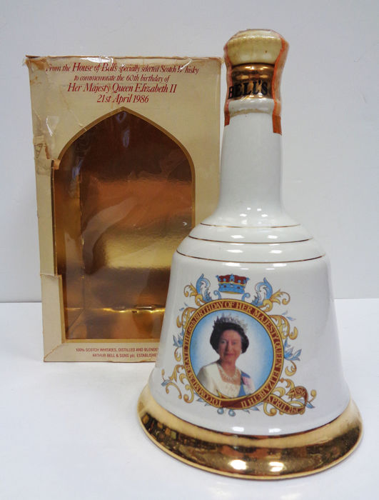Bell's 1986 60th Birthday of her majesty Queen Elizabeth II - 75cl