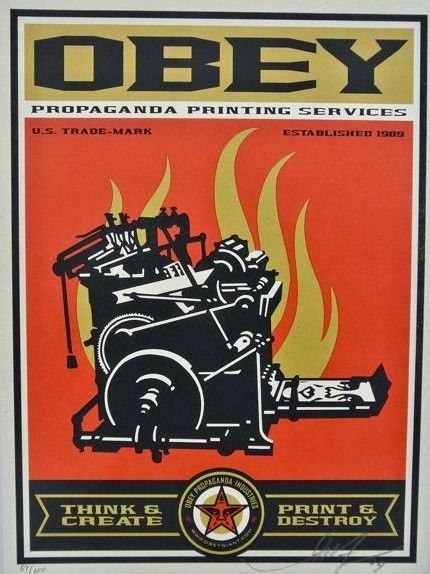 Shepard Fairey (OBEY) - Print and Destroy - Supply & Demand Edition