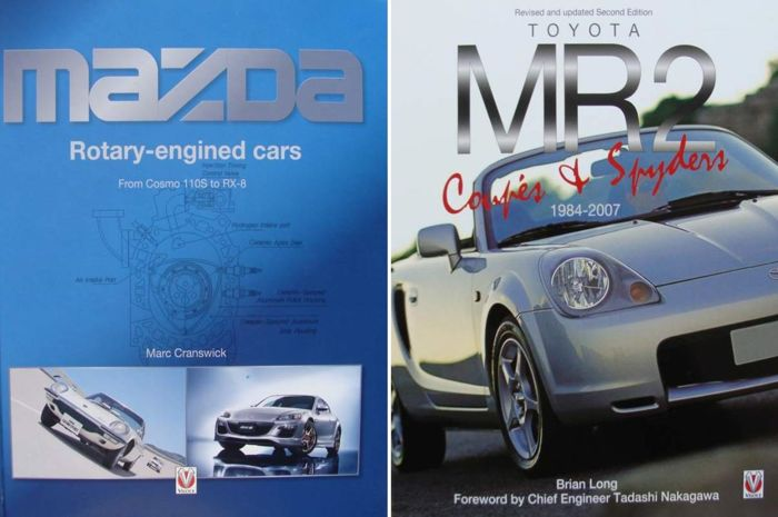 2 libros - Mazda Rotary-engined Cars, Cosmo 110S to RX-8  +  Toyota MR2 Coupe & Spyders - 2017