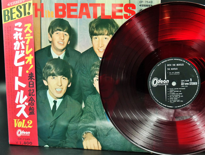 Beatles - With The Beatles in rare Red /With Obi and all original Insert`s - LP Album - 1966/1966