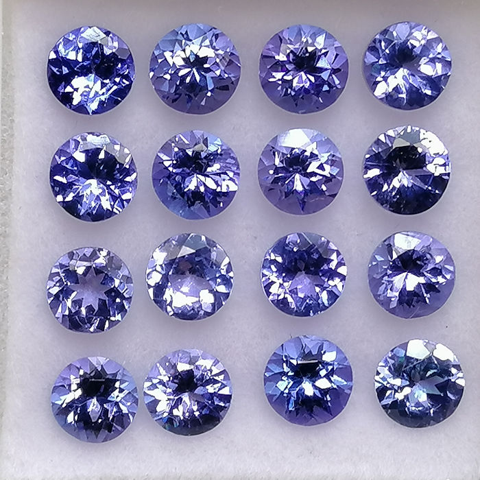 16 pcs  Tanzanite - 4.54 ct