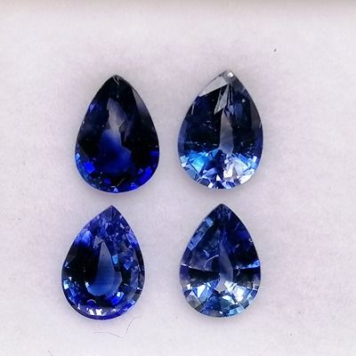 4 pcs Bleu Saphir - 3.15 ct