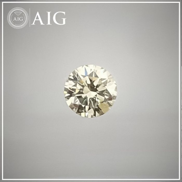 Diamond - 0.27 ct - Round - light yellow - SI1