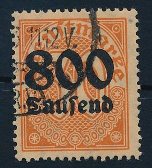 German Empire 1923 - Official stamp, 800 thsd. on 30 pf with watermark 1 (diamonds) Michel 95 y geprüft Infla Berlin