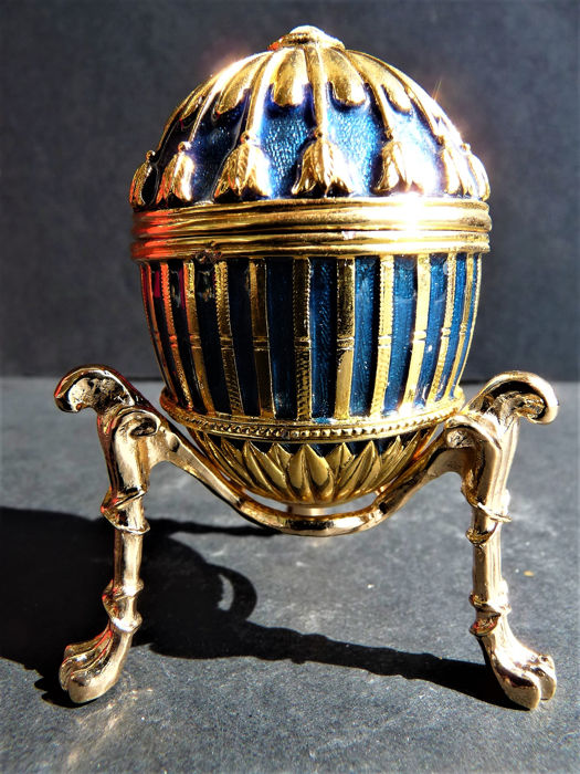 Fabergé Impérial - Collector egg - Email-Swarovski Rhinestones-24k gold plated finish