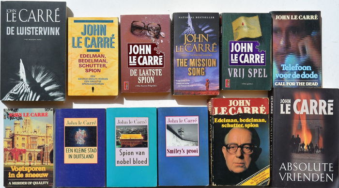 John le Carré   - Lot with 12 books in English and Dutch - 1975/2008