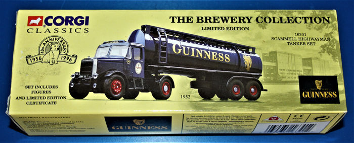 Corgi - 1:50 - The Brewery Collection- Guinness  Scammel Highwayman Tanker set - Corgi Classics limited edition