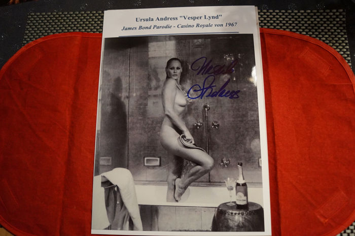 """- Ursula Andress - as Vesper Lynd in 007 spoof """"Casino Royale"""" (1967) - signed photo - COA"""