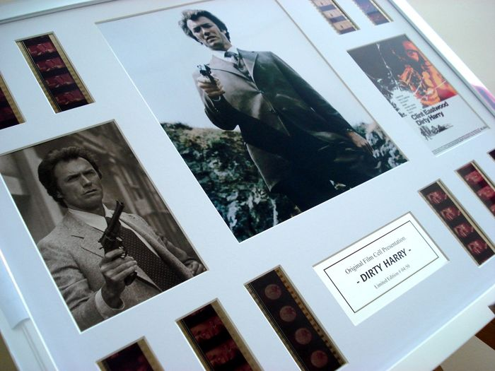 Dirty Harry - Clint Eastwood framed film cell display - 16x20 inches