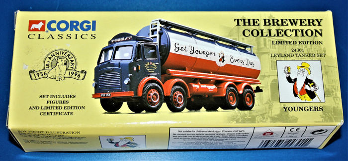 Corgi - 1:50 - The Brewery Collection- Youngers Leyland Tanker set - Corgi Classics limited edition