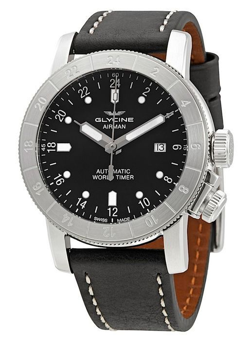Glycine - Airman World Timer GMT Datum Automatik - GL0137 - Heren - 2011-heden