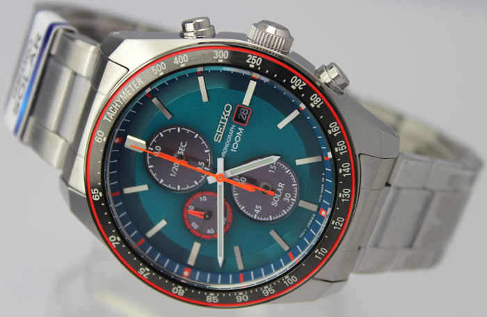 "Seiko - ""NO RESERVE PRICE"" Chronograph  - SSC717P1 Solar Powered - Men - 2011-present"
