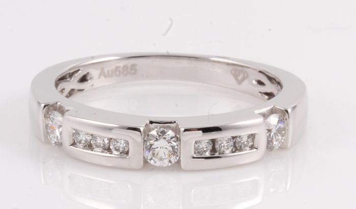 14 kt. White gold - Ring - 0.50 ct Diamond
