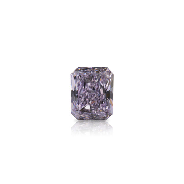 1 pcs Diamante - 0.32 ct - Radiante - fancy light pink purple - VS2