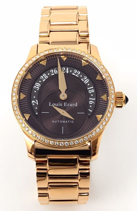 Louis Erard - Emotion Collection Automatic Diamond Watch Rose Gold - 92600PS13.BMA46 - Donna - BRAND NEW