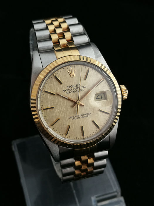 Rolex - Oyster Perpetual Datejust Gold/Steel - 16013 - Férfi - 1980-1989