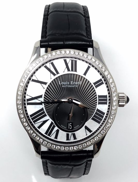 Louis Erard - Emotion Collection Automatic Diamond Watch 0.84 Ct - 92310SE02.BDC02 - Unisex - BRAND NEW