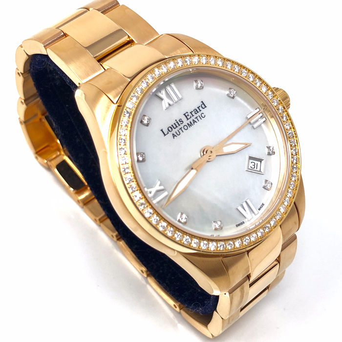 """Louis Erard - Héritage Collection Diamond Watch Rose Gold """"NO RESERVE PRICE"""" - 69101PS14.BMA43 - Heren - BRAND NEW"""
