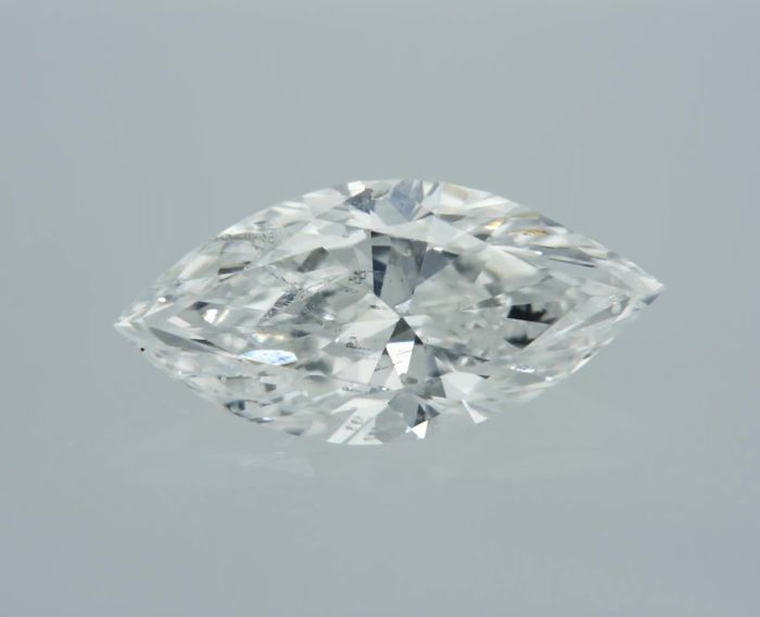 1 pcs Diamond - 0.62 ct - Marquise - D (colourless) - SI1 (laser drilled)