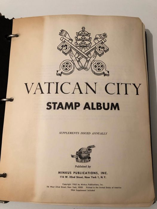 Vatican City 1852/1975 - collection mounted on Minkus album