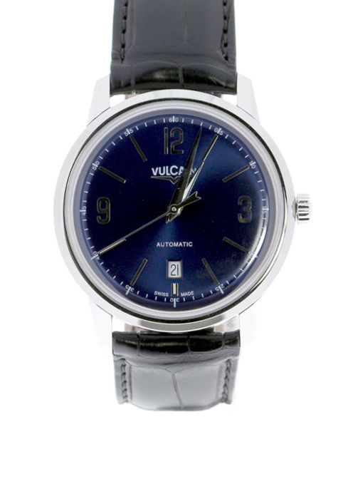 Vulcain - 50's Presidents Classic Steel 42 mm Blue Dial - 560156.306L - Unisex - 2019