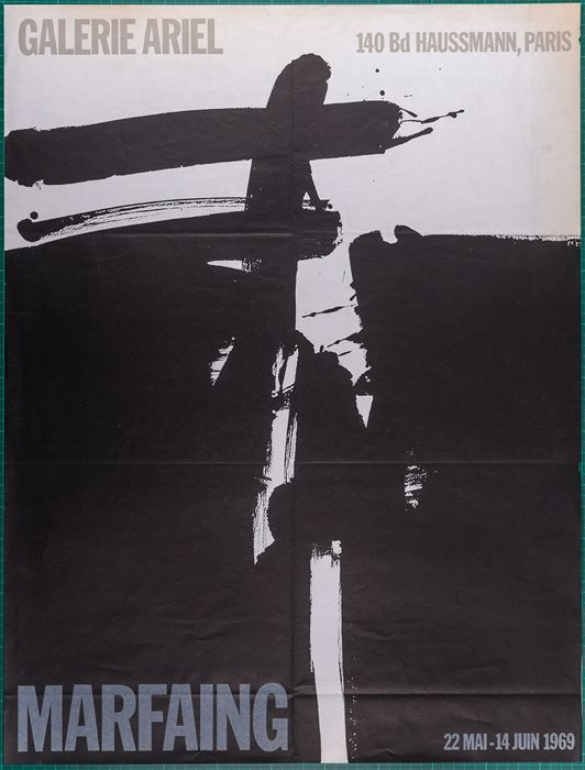 Marfaing - Exposition Galerie Ariel, opening  - 1969
