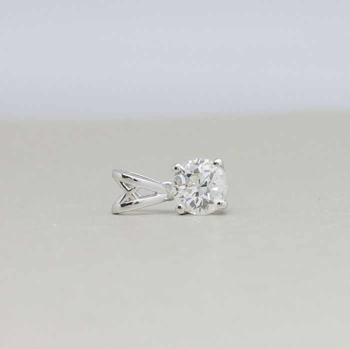 18 quilates Oro, Oro blanco - Colgante - 0.76 ct Diamante