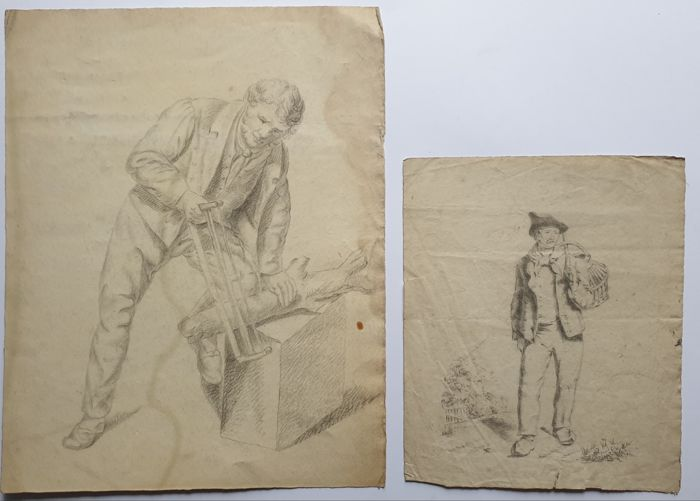 11 prints & drawings - Various artists (17th to 19th century) - Collection prints & drawings