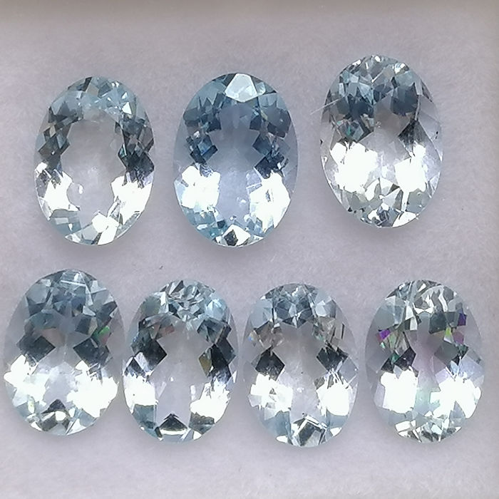 7 pcs  Aguamarina - 4.33 ct