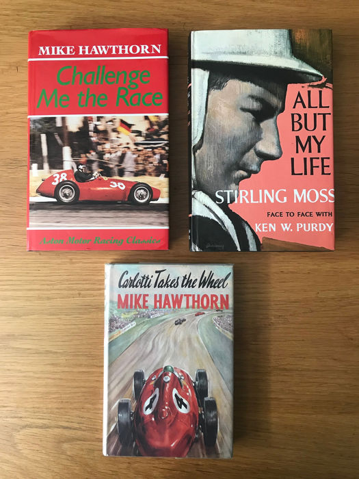 Libros - Mike Hawthorn Challenge me the Race & Carlotti Takes the Wheel +  Moss  - 1989-1959