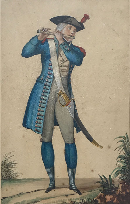 French School - Fife player