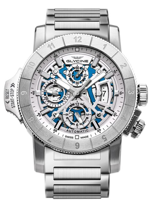 Glycine - Airman Airfighter Skeleton Chronograph  - GL0053 - 3957.181.MB - Hombre - 2011 - actualidad