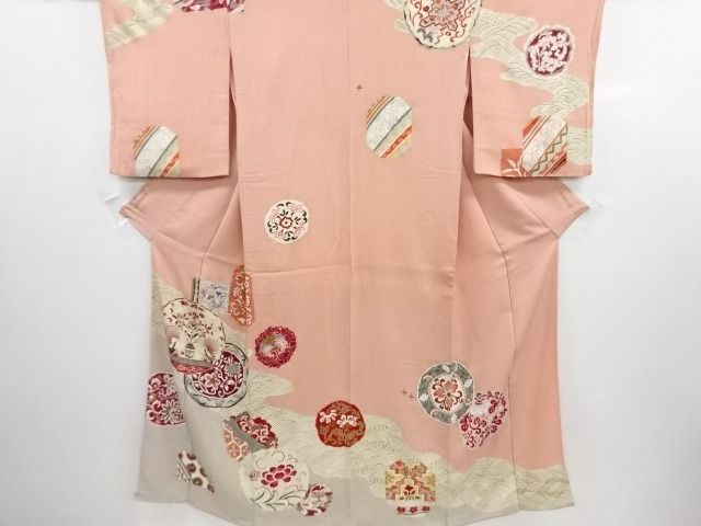 Kimono - Soie - Kimono with Rough sea and Flower bird patterns  - Japon - Milieu du XXe siècle