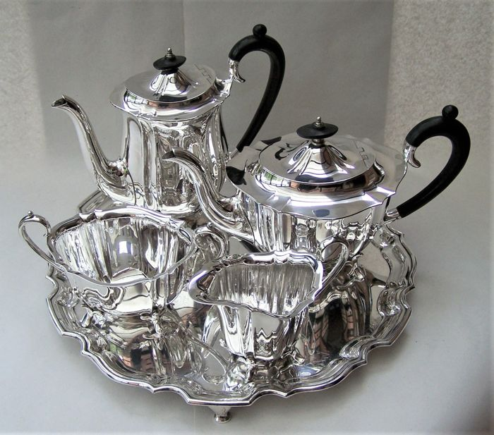 Tea service (5) - Silver plated - U.K. - Early 20th century