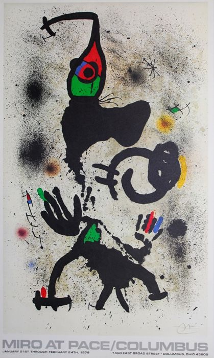 Joan Miró - Pace Gallery Columbus Ohio - 1979