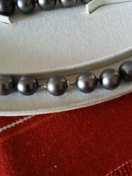 Tahitian pearls, 14.5 mm - Necklace