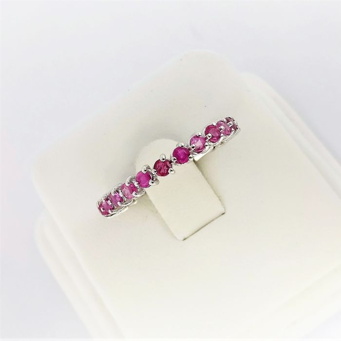 18 kt. White gold - Ring - 1.62 ct Ruby