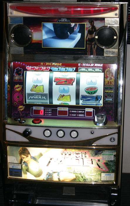 Tomb Raider Pachislo - Japanese Slot Machine / Slot Machine - Wooden case /  Plastic - Catawiki
