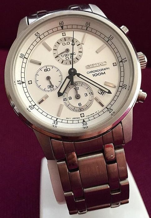 """Seiko - """"NO RESERVE PRICE"""" Chronograph 100M """"Clear Dial""""  - CAL.7T92 - REF.0N1135 - Heren - 2011-heden"""