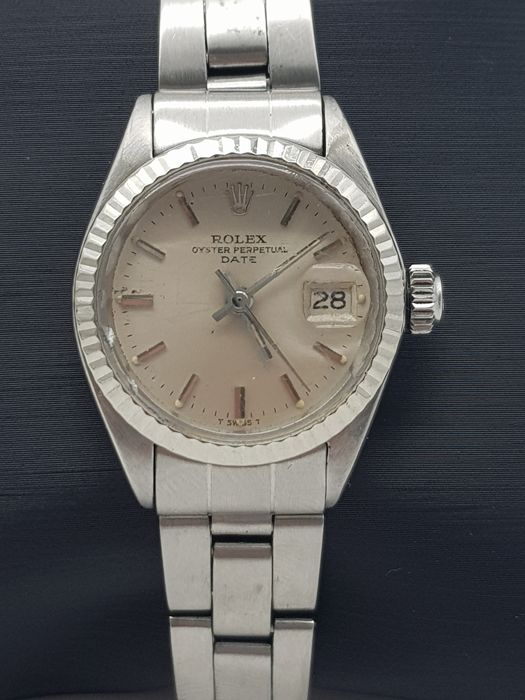 """Rolex - Oyster Perpetual Date - 6917 """" NO RESERVE PRICE """" - Dames - 1970-1979"""