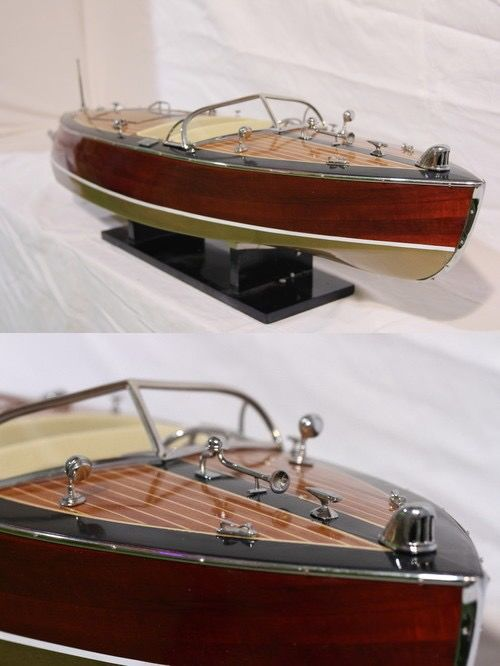 Scale boat model, Stan Craft Torpedo USA runabout 70cm - Mahogany, Wood - 2018