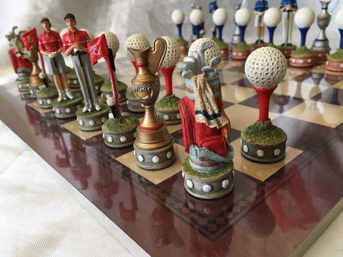 Chess Golf Champions - Art Deco - hand painted figure