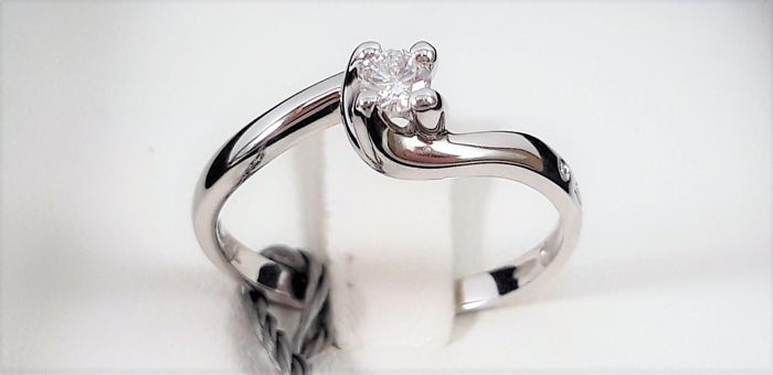 Salvini - 18 kt. White gold - Ring - 0.14 ct Diamond