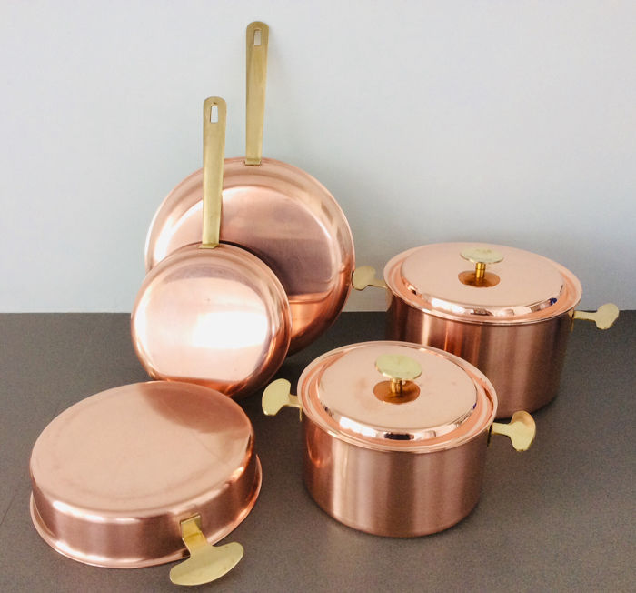 'VANSTAHL' professionele kookpotten en pannen - Excellence! (5) - red copper with stainless steel interior